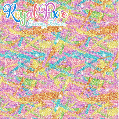 Permanent Preorder - Starry Glitters - Rainbow Pastel Brushstrokes