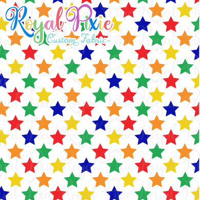 Permanent Preorder - Stars with White - Rainbow Primaries - RP Color