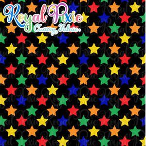 Permanent Preorder - Stars with Black - Rainbow Primaries - RP Color