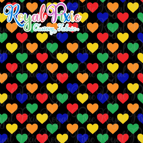 Permanent Preorder - Hearts with Black - Rainbow Primaries - RP Color