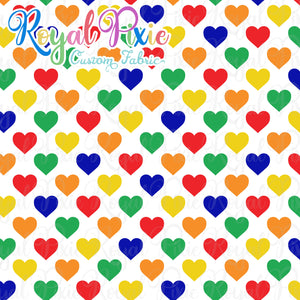 Permanent Preorder - Hearts with White - Rainbow Primaries - RP Color