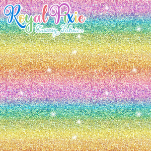 Permanent Preorder - Starry Glitters - Rainbow Pastel Stripe Ombre