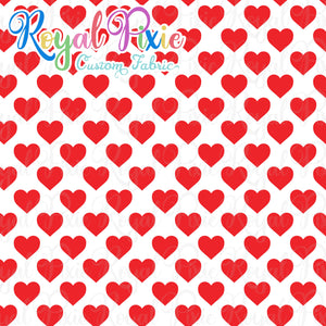 Permanent Preorder - Hearts with White - Red - RP Color