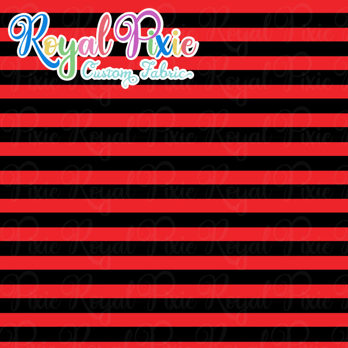 Permanent Preorder - Stripes with Black - Red - RP Color