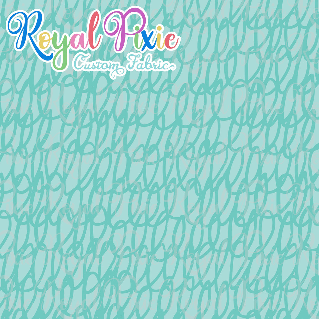 Permanent Preorder - Coords - Scribble Lines Monochrome - Aqua - RP Color