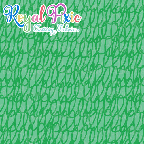 Permanent Preorder - Coords - Scribble Lines Monochrome - Green - RP Color