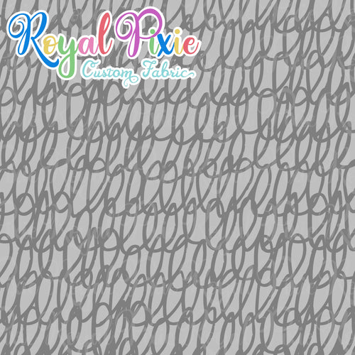 Permanent Preorder - Coords - Scribble Lines Monochrome - Grey - RP Color
