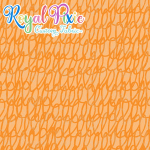 Permanent Preorder - Coords - Scribble Lines Monochrome - Orange - RP Color