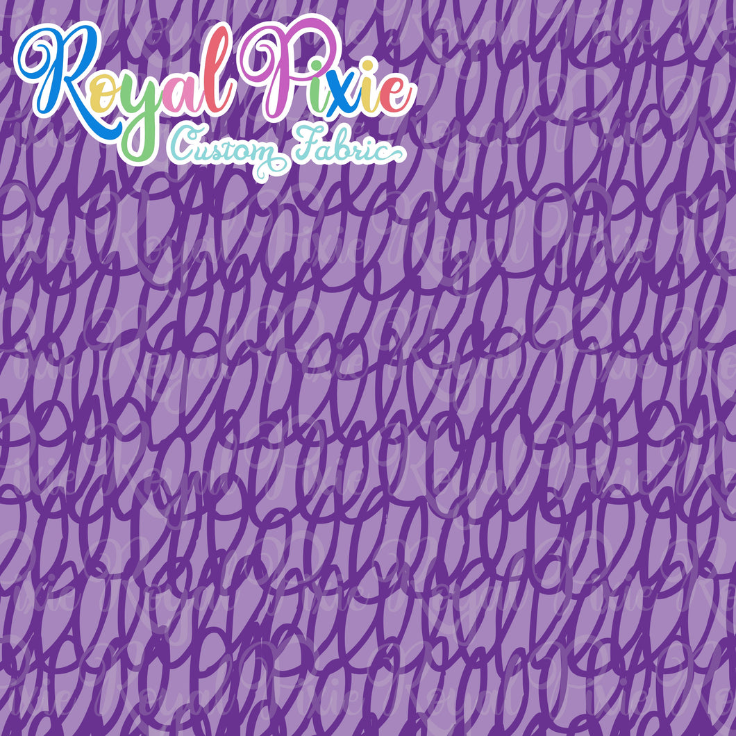 Permanent Preorder - Coords - Scribble Lines Monochrome - Purple - RP Color
