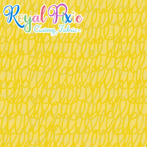 Permanent Preorder - Coords - Scribble Lines Monochrome - Yellow - RP Color