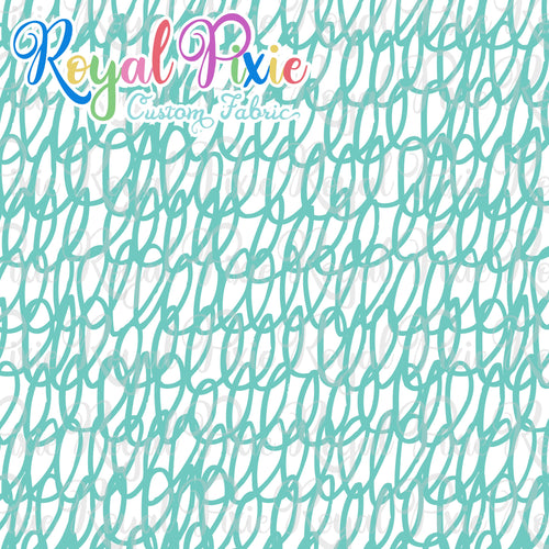 Permanent Preorder - Coords - Scribble Lines with White - Aqua - RP Color