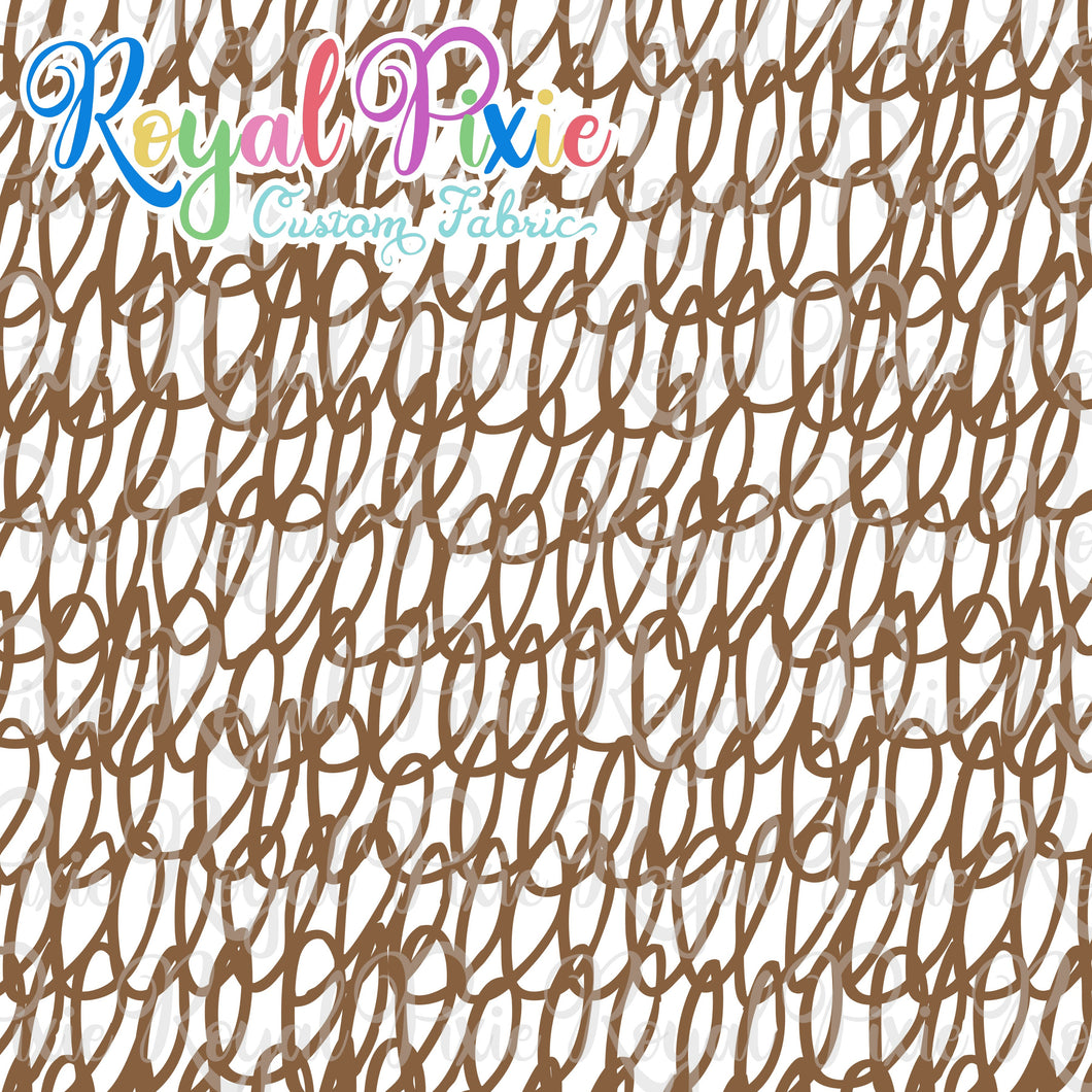 Permanent Preorder - Coords - Scribble Lines with White - Brown - RP Color