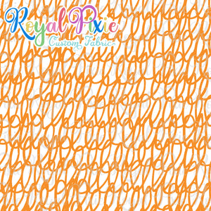 Permanent Preorder - Coords - Scribble Lines with White - Orange - RP Color
