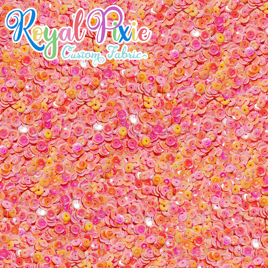 Permanent Preorder - Coords - Sequins - Royal Tangerine