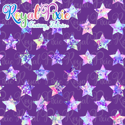 Permanent Preorder - Stars Fun - Pastel Glitter with Purple