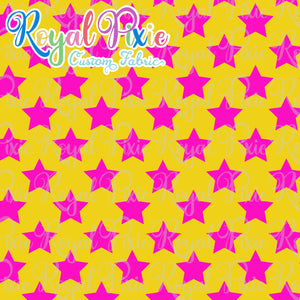 Permanent Preorder - Stars Multicolor - Pink and Yellow