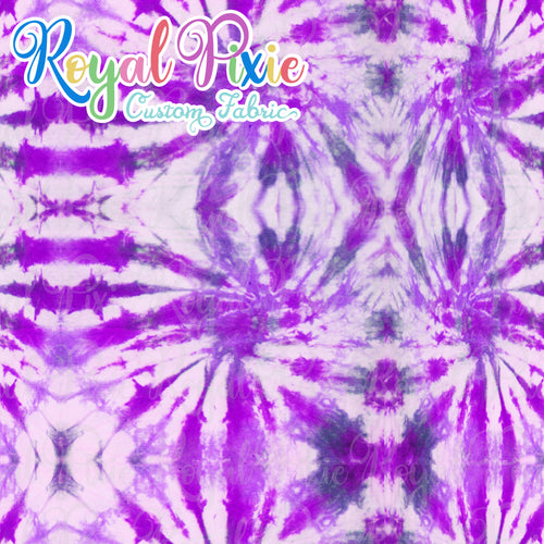 Permanent Preorder - Coords - Tie Dye Lines 7 Purple