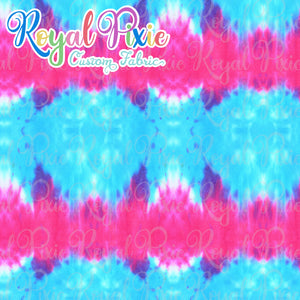 Permanent Preorder - Coords - Tie Dye Stripe Pink and Blue