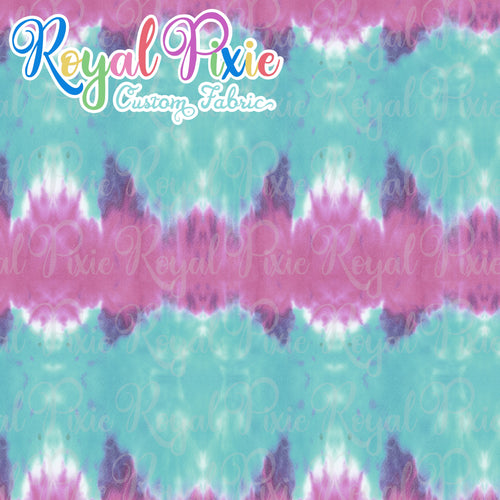 Permanent Preorder - Coords - Tie Dye Stripe Purple and Teal