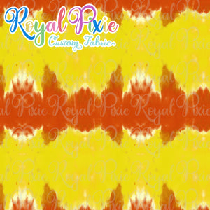 Permanent Preorder - Coords - Tie Dye Stripe Red and Yellow