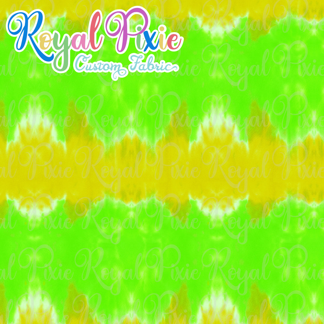 Permanent Preorder - Coords - Tie Dye Stripe Yellow and Green