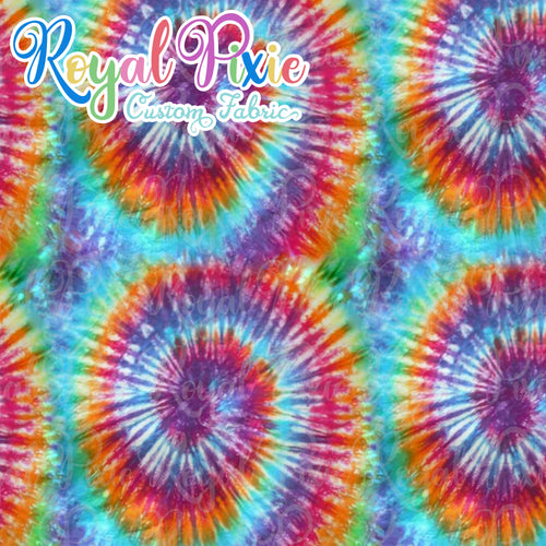 Permanent Preorder - Coords - Tie Dye Swirls 4 Bold Red