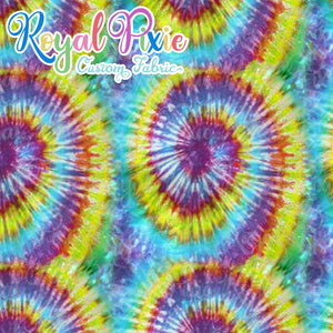 Permanent Preorder - Coords - Tie Dye Swirls 6 Bold Yellow