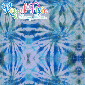 Permanent Preorder - Coords - Tie Dye Lines 9 Teal