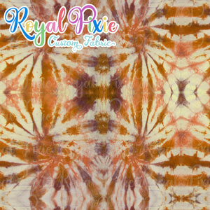 Permanent Preorder - Coords - Tie Dye Lines 6 Brown Sugar