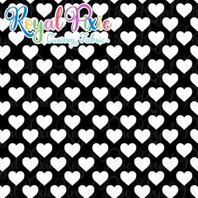 Permanent Preorder - Hearts with Black - White - RP Color
