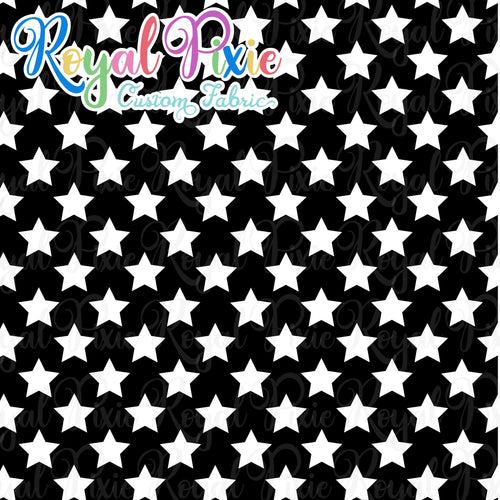 Permanent Preorder - Stars with Black - White - RP Color