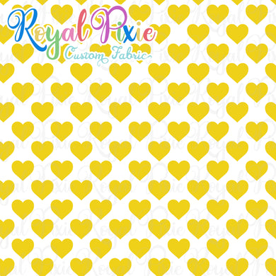 Permanent Preorder - Hearts with White - Yellow - RP Color