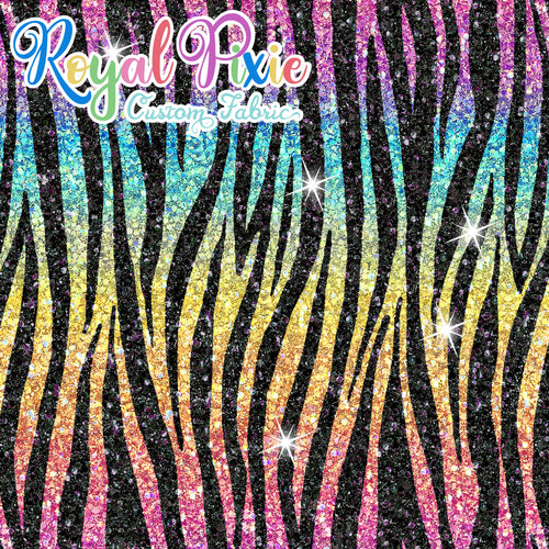 Permanent Preorder - Coords - Animal Prints - Glitter Zebra Rainbow Bright