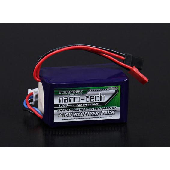 6.6v 1700mah Li-Fe Hump Receiver Pack