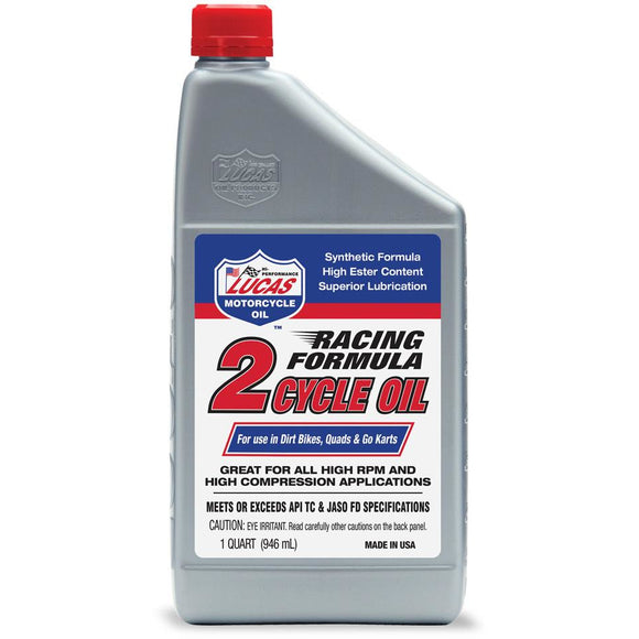 Lucas Racing Synthetic 2-Cycle Oil 1 QUART