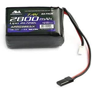 Li-Po 7.4v 2800mah Hump Receiver Pack