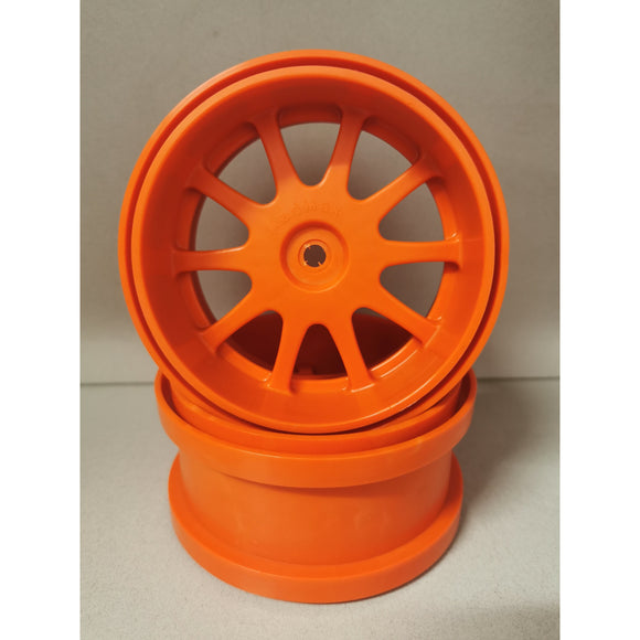 FG Style Rims for 155mm Tyre - Wide Offset Orange, Black, White