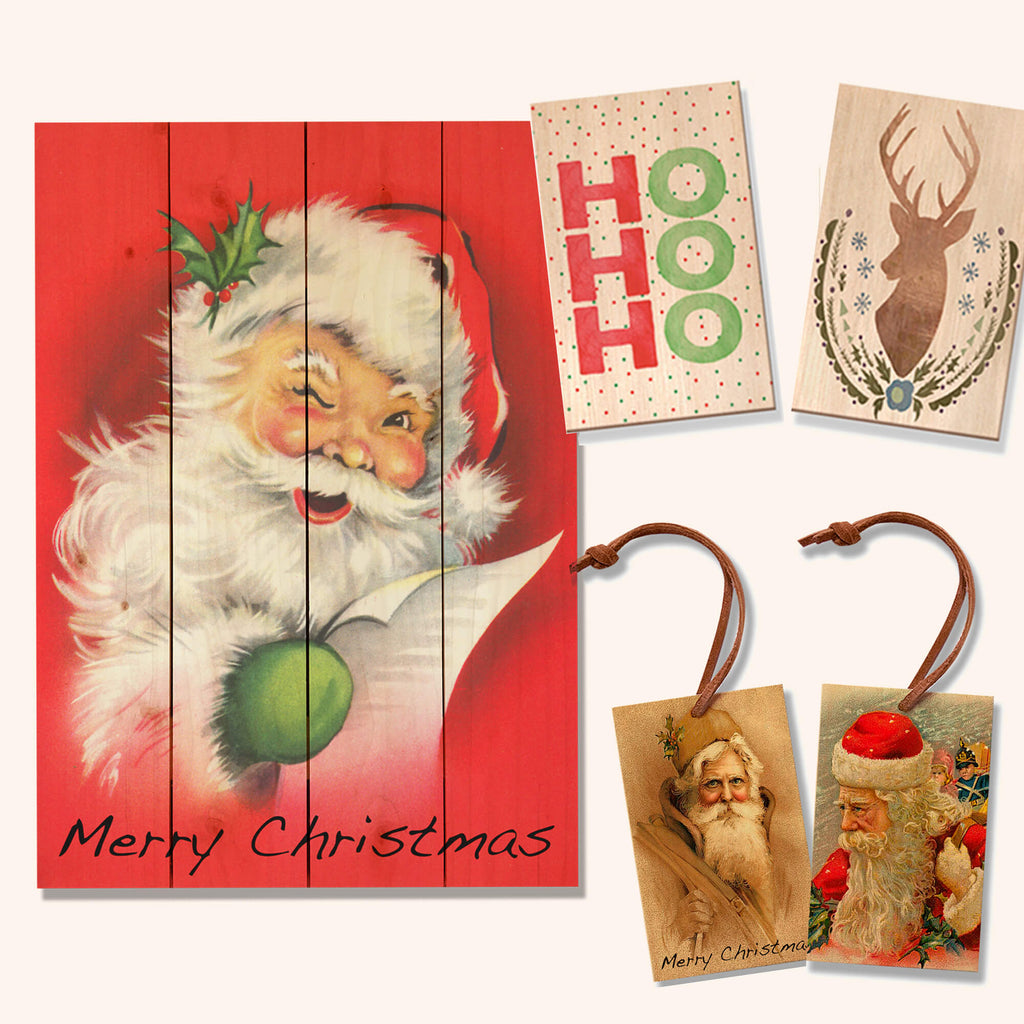 Retro Wood Holiday Gifts and Decor