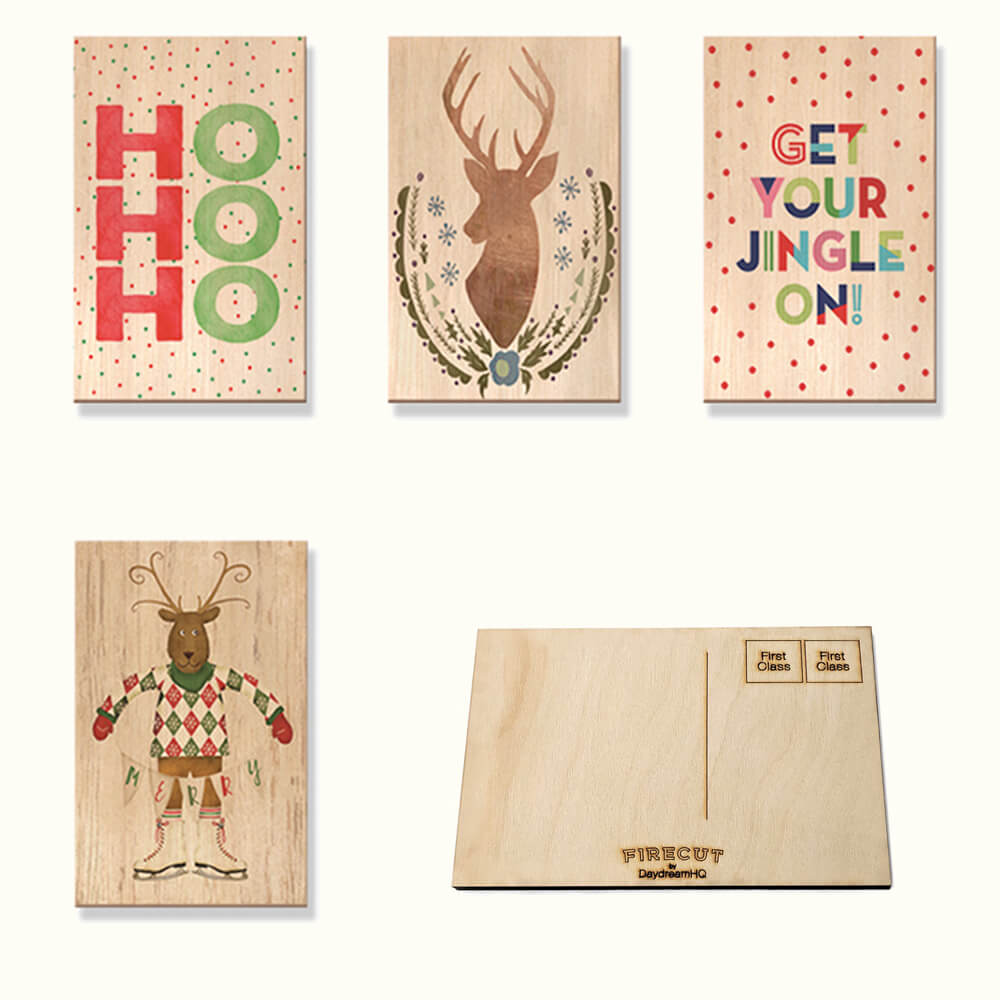 Classic Wood Christmas Cards