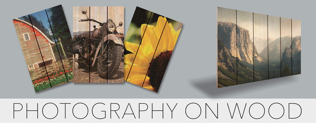 Large Wall Decor - Photography on Wood