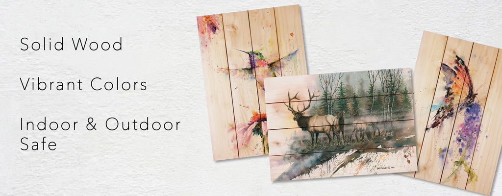Original Paintings Reproduced onto Solid Wood