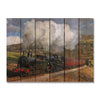 All Aboard - Train on Wood Wall Art Outside by Mike FenceEscape 33x24