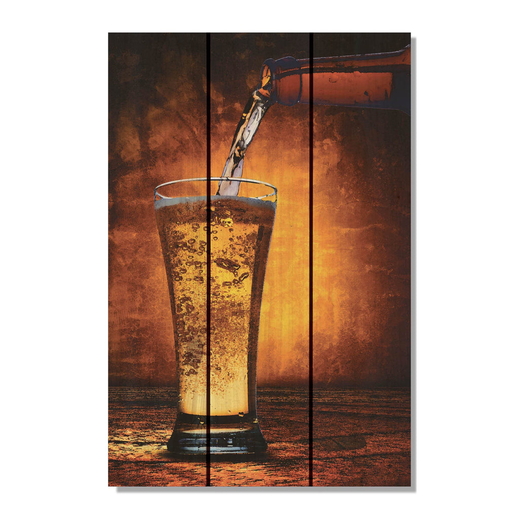 Amber Ale - Beer Wood Wall Art DaydreamHQ FenceEscape 16x24