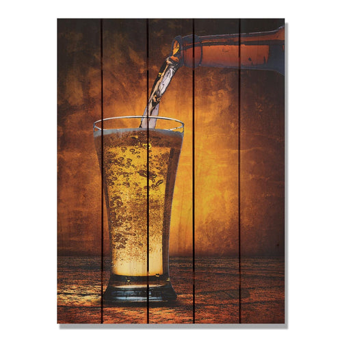 Amber Ale - Beer Wood Wall Art DaydreamHQ FenceEscape 28x36
