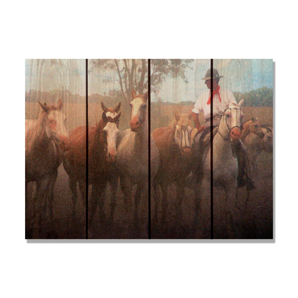 Argentine Gaucho - South American Wood Wall Art DaydreamHQ FenceEscape 22x16