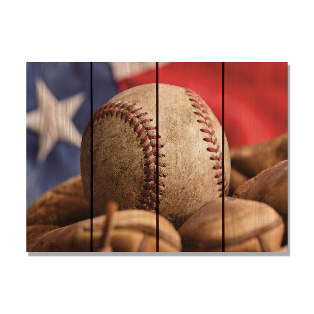 All American - Baseball Wood Wall Art DaydreamHQ FenceEscape 22x16