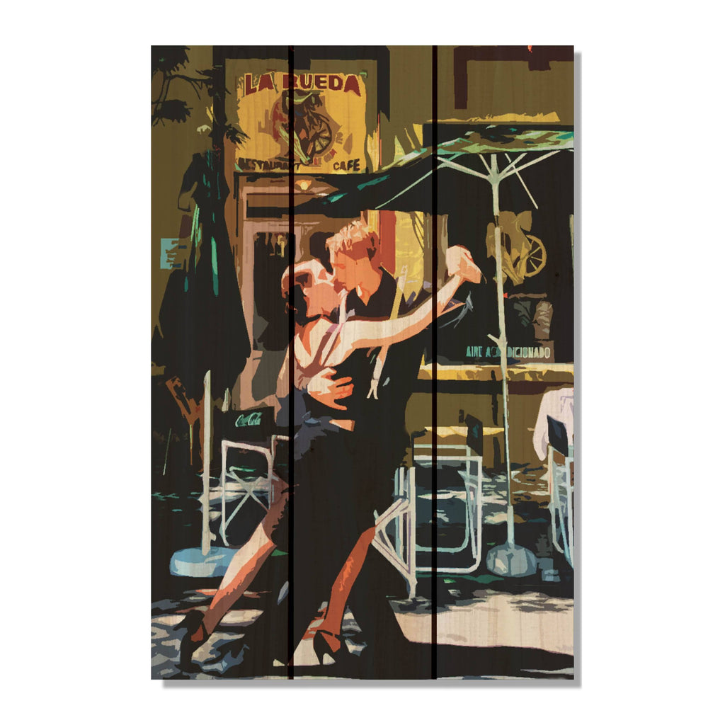 Argentina Tango on Wood - Colorful Wall Decor DaydreamHQ FenceEscape 16x24
