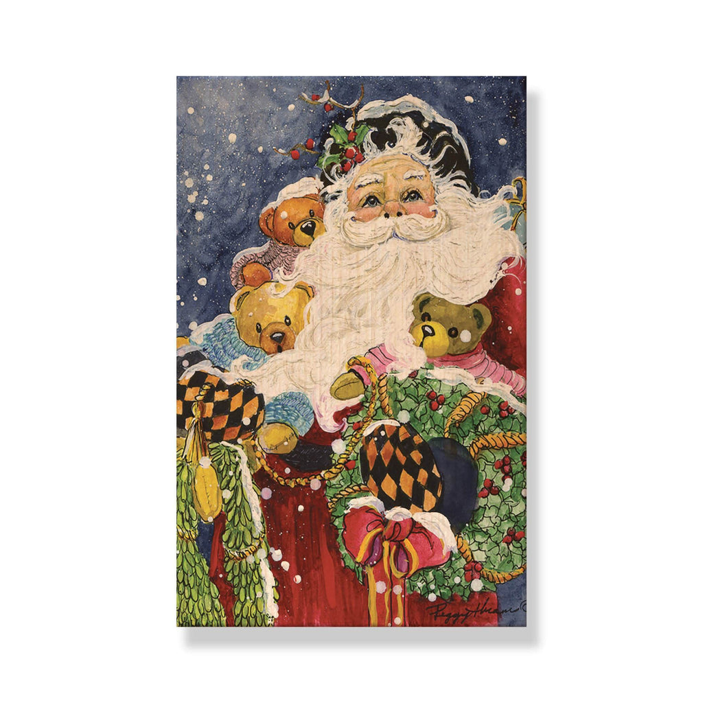 Abrams' Noble Santa - Mailable Wood Postcard - Single Image Multi Pack DaydreamHQ