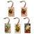 Abrams' Santas Ornaments - Pack of 5 Solid Wood Ornaments DaydreamHQ Ornament