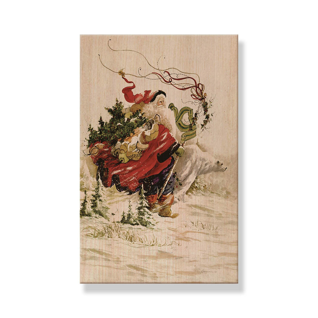 Abrams' Polar Santa - Mailable Wood Postcard - Single Image Multi Pack DaydreamHQ